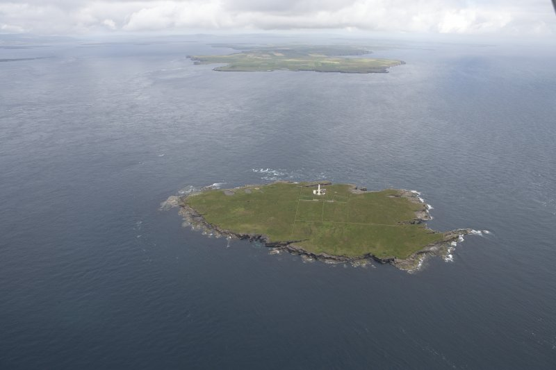 General oblique view of Muckle Skerry, looking to the N.