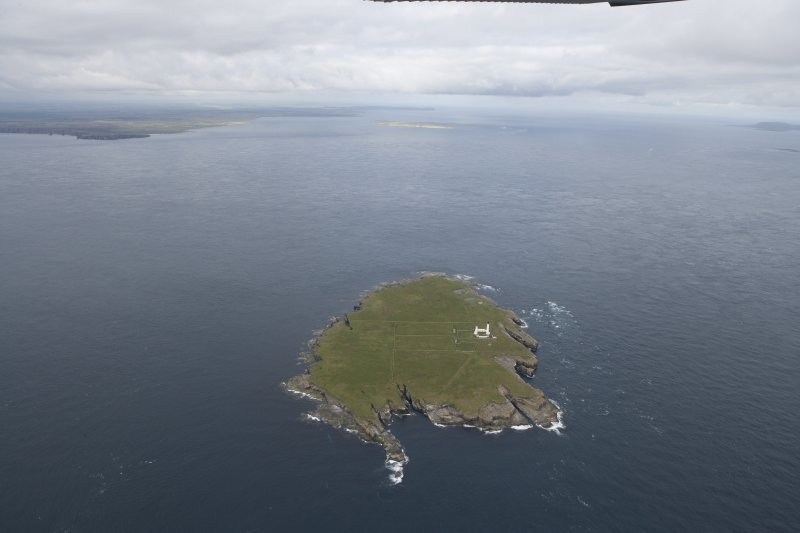 General oblique view of Muckle Skerry, looking to the W.