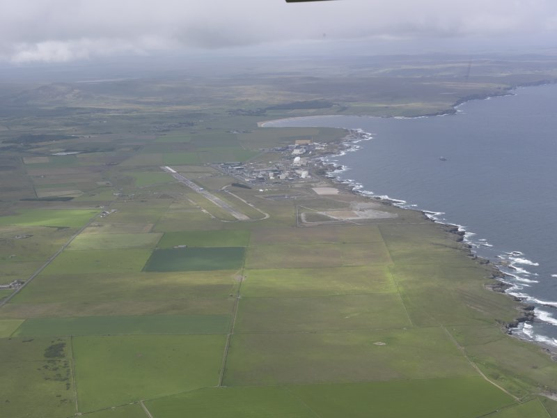 General oblique view of Dounreay Nuclear Development Establishment, looking W.