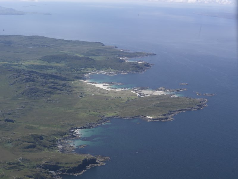 General oblique aerial view over Sanna Bay, looking SW.