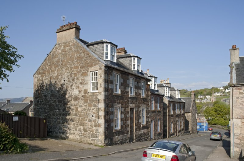 General view of 4, 6 and 8 Columshill Place, Rothesay, Bute, from SW
