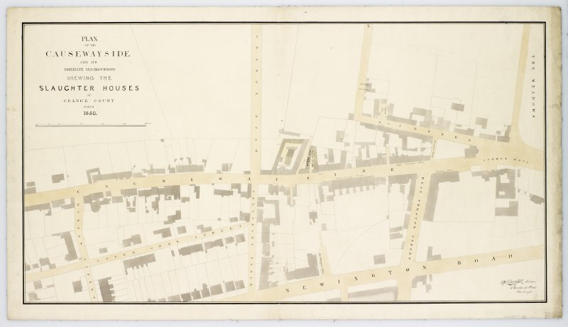 Plan of the area around Causewayside including Duncan Street, Upper Gray Street, Grange Road, Salisbury Place, Sciennes, Sciennes Place, West Preston Street, Newington Road, Summer Hall and part of th ...