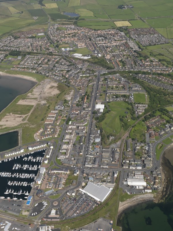 Oblique aerial view of Ardrossan, taken from the SSW.