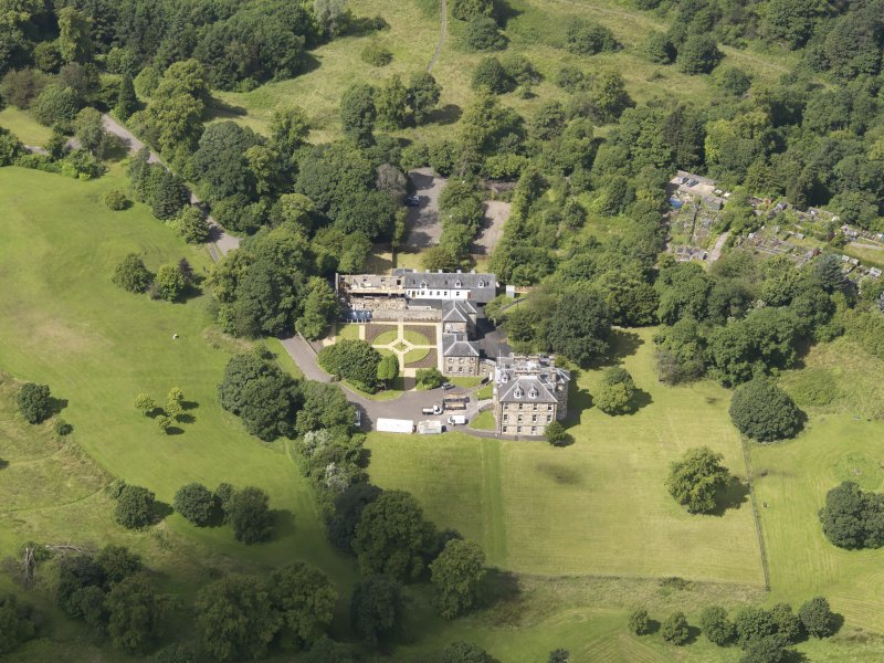 Oblique aerial view of Cumbernauld House, taken from the SE.
