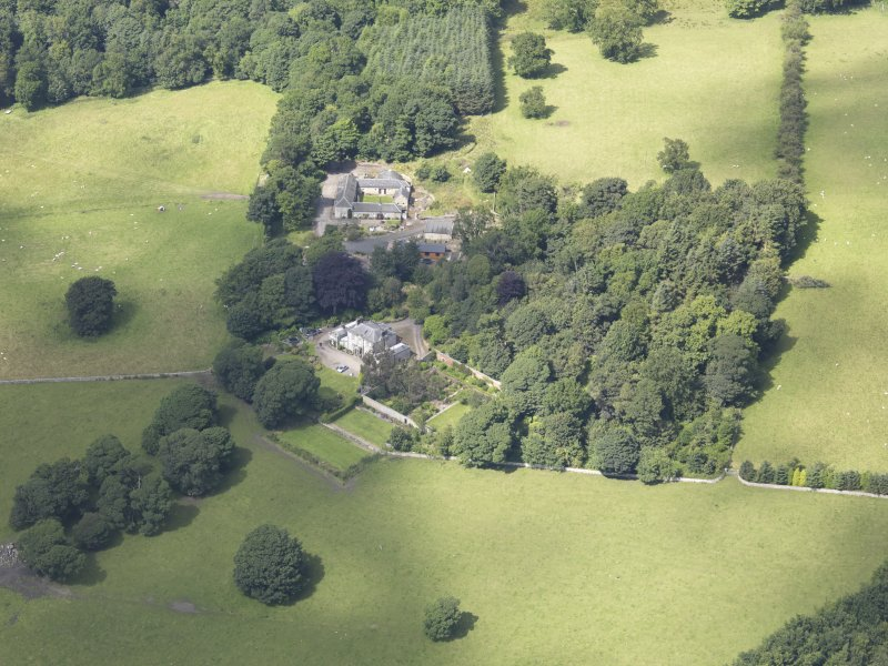 Oblique aerial view of Benarty Country House, taken from the S.