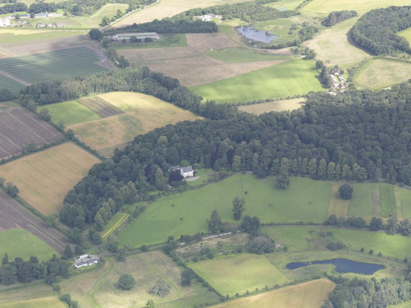 Oblique aerial view of Gourdie Country House, taken from the E.