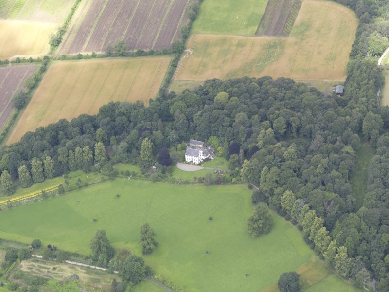 Oblique aerial view of Gourdie Country House, taken from the SE.