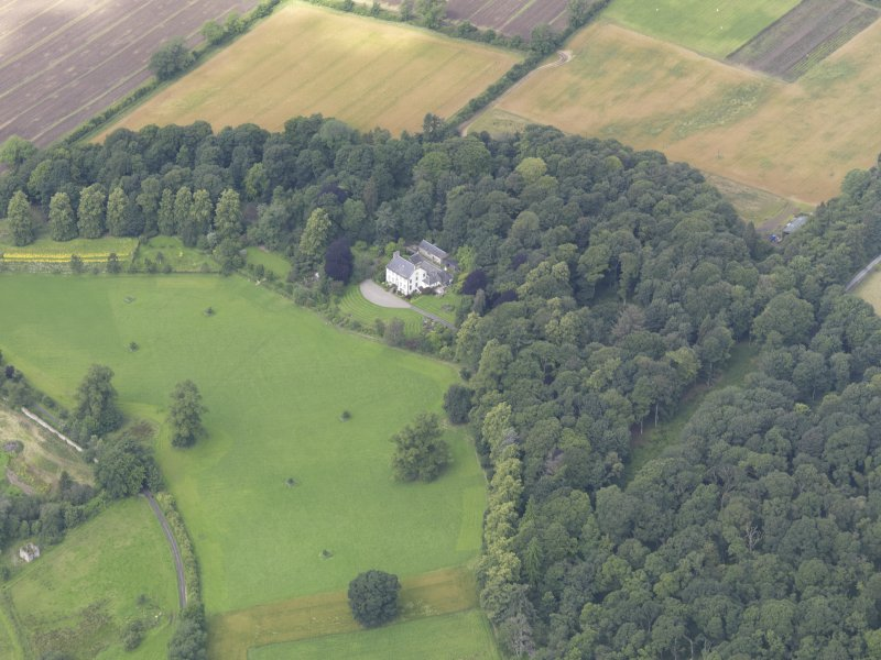 Oblique aerial view of Gourdie Country House, taken from the ESE.