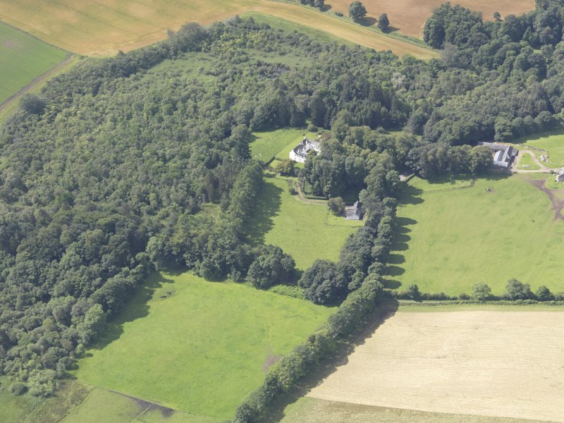 Oblique aerial view of Ardblair Castle, taken from the NE.