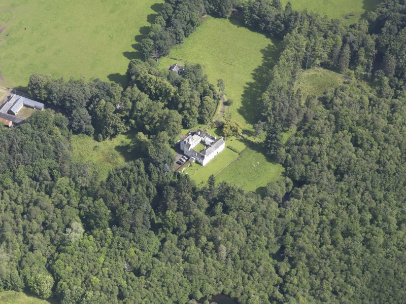 Oblique aerial view of Ardblair Castle, taken from the S.