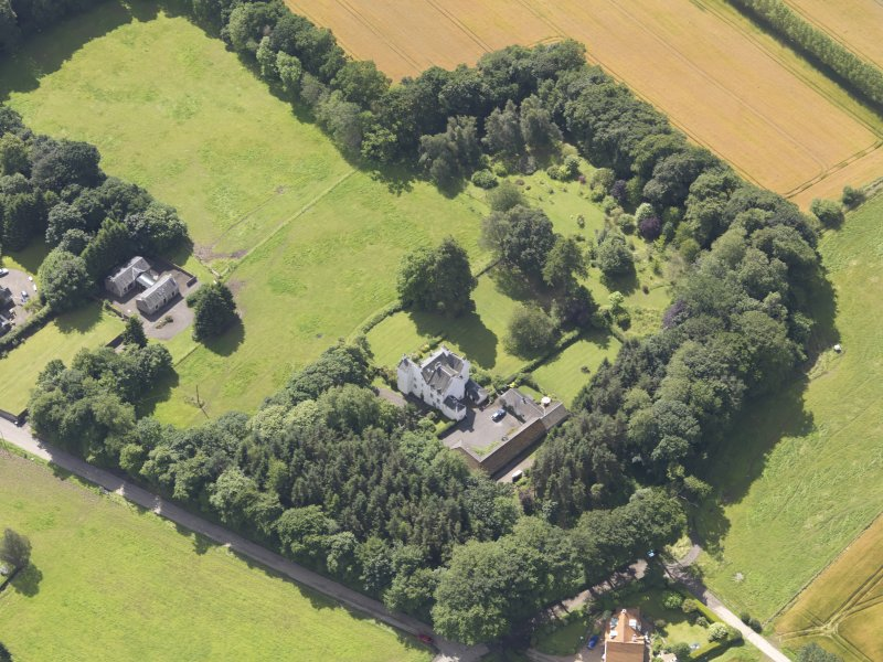 Oblique aerial view of Newton Castle, taken from the N.