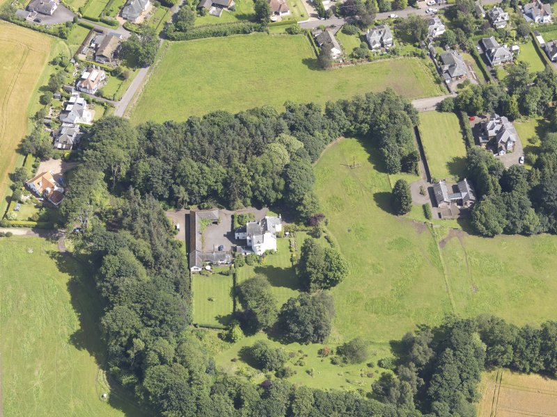 Oblique aerial view of Newton Castle, taken from the SW.
