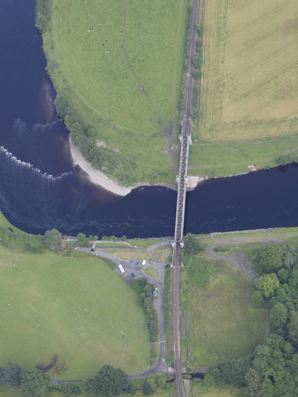 Oblique aerial view of Dalguise Viaduct, taken from the SSW.