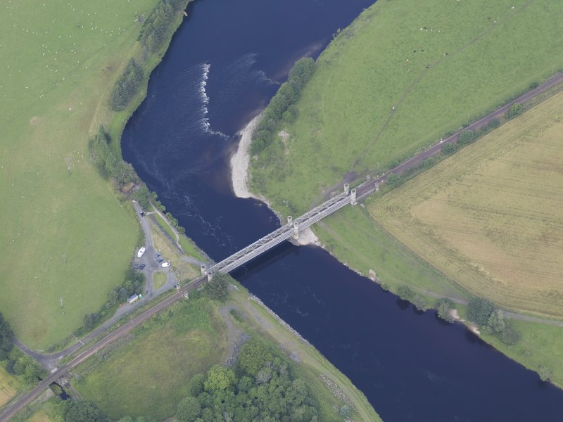 Oblique aerial view of Dalguise Viaduct, taken from the SSE.