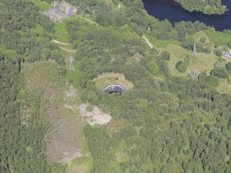 Oblique aerial view of Clunie Power Station, taken from the S.