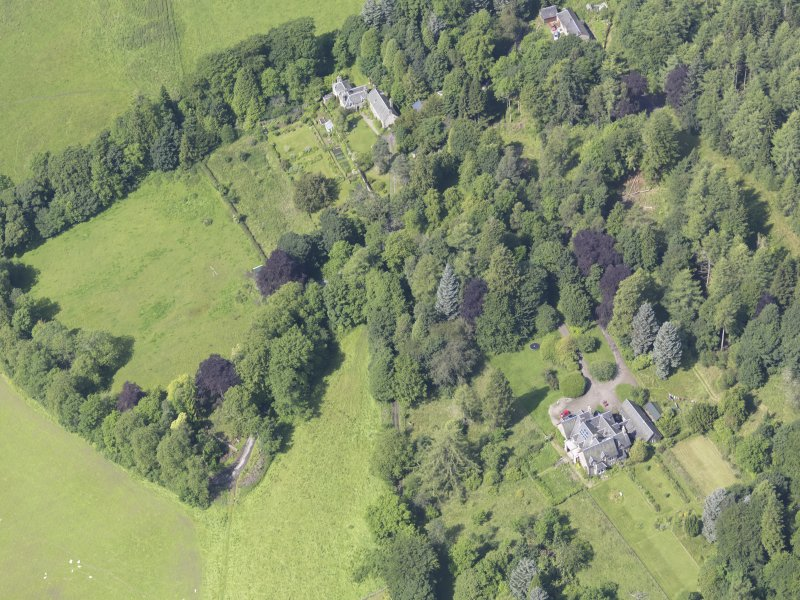 Oblique aerial view of Fincastle House, taken from the SE.