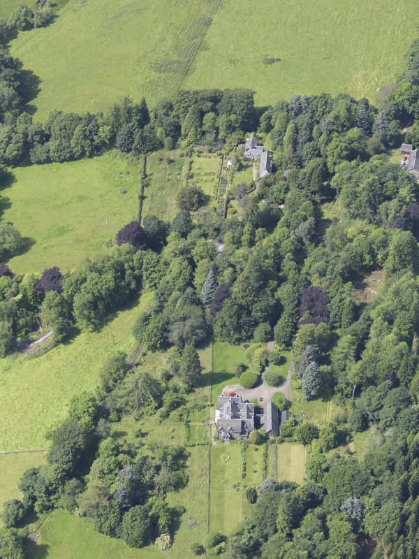 Oblique aerial view of Fincastle House, taken from the E.