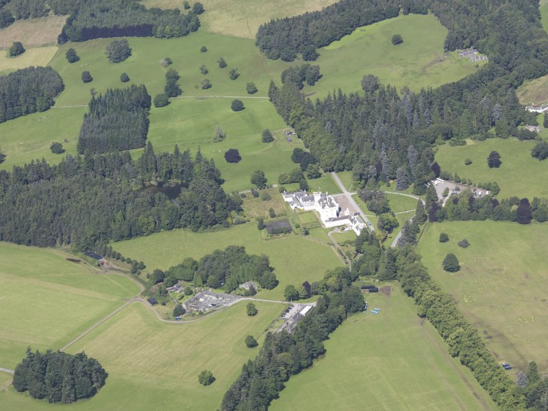 Oblique aerial view of Blair Castle, taken from the S.