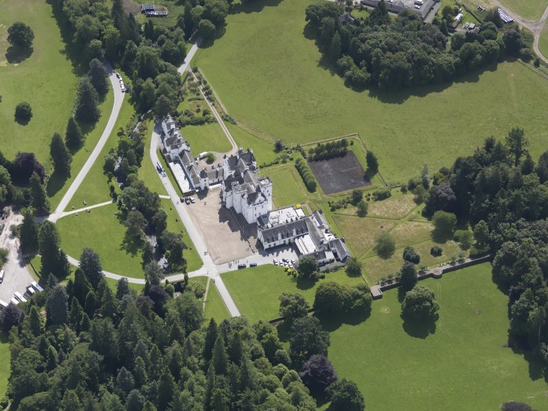 Oblique aerial view of Blair Castle, taken from the NNW.