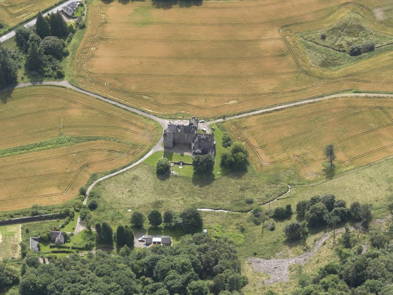 Oblique aerial view of Castle Menzies, taken from the N.