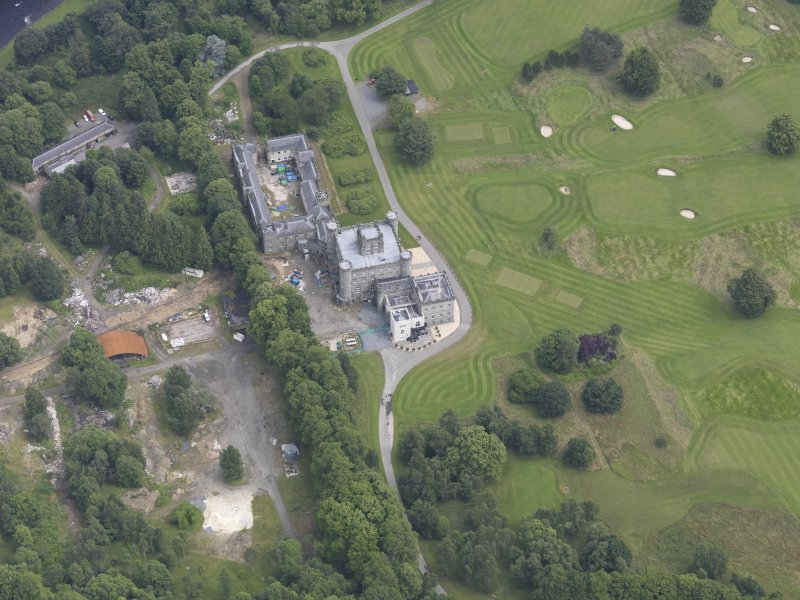 Oblique aerial view of Taymouth Castle, taken from the WSW.