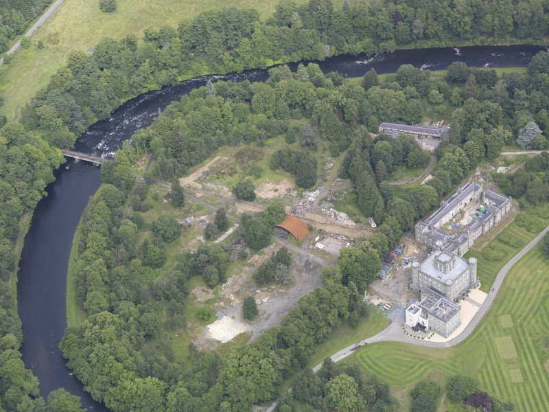 Oblique aerial view of Taymouth Castle, taken from the SSW.