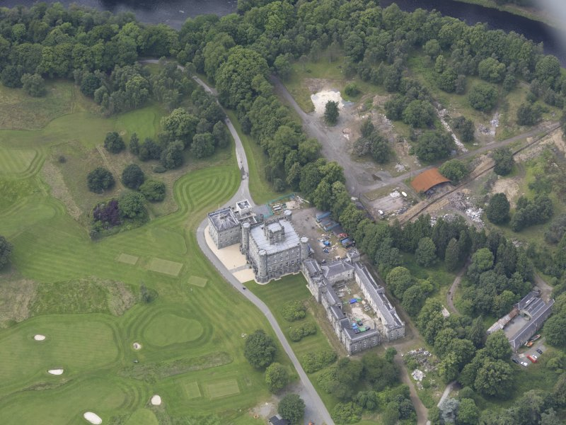 Oblique aerial view of Taymouth Castle, taken from the E.