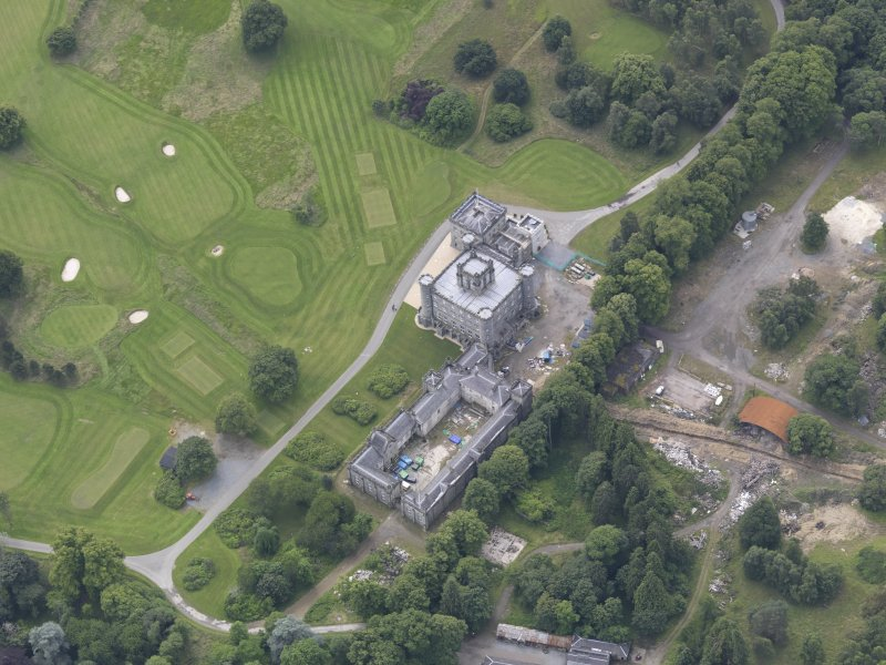 Oblique aerial view of Taymouth Castle, taken from the NE.