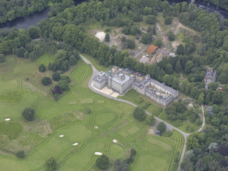 Oblique aerial view of Taymouth Castle, taken from the SE.