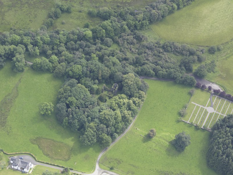 Oblique aerial view of Finlarig Castle, taken from the NW.