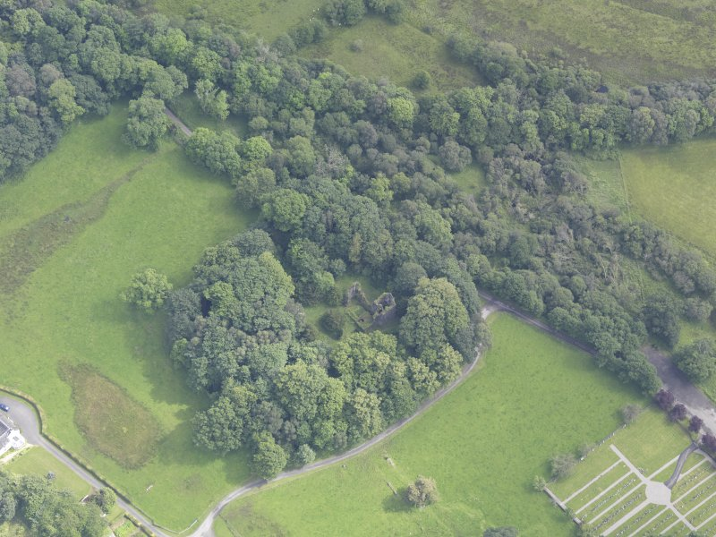 Oblique aerial view of Finlarig Castle, taken from the W.