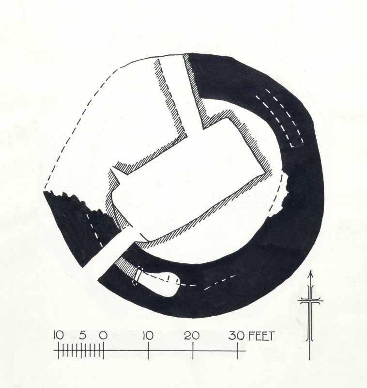 Publication drawing: broch at Dun An Sticer.