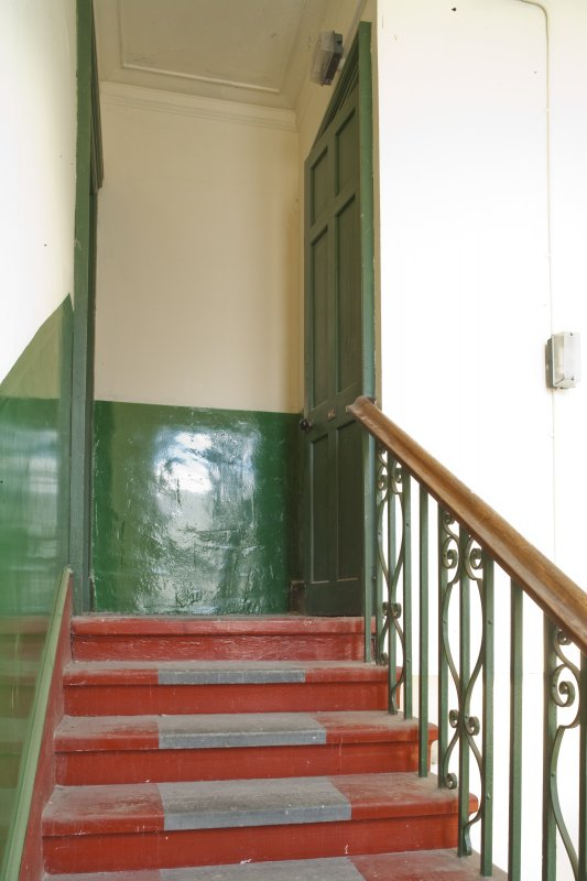 Interior. General view of staircase to upper floor.