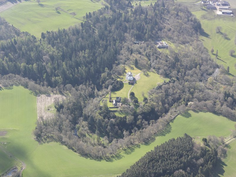 Oblique aerial view of Invermay House, looking S.