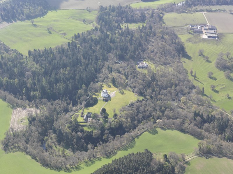 Oblique aerial view of Invermay House, looking SSE.