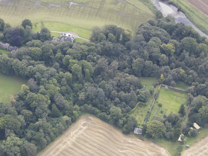 Oblique aerial view of Chesters House, taken from the NW.