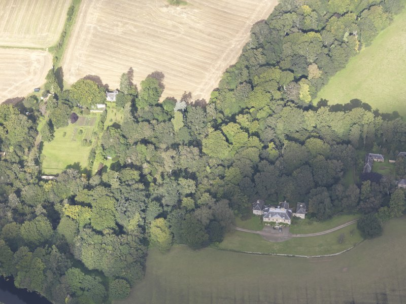 Oblique aerial view of Chesters House, taken from the SSE.