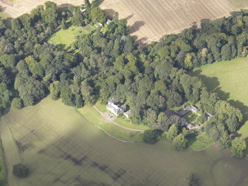 Oblique aerial view of Chesters House, taken from the ESE.