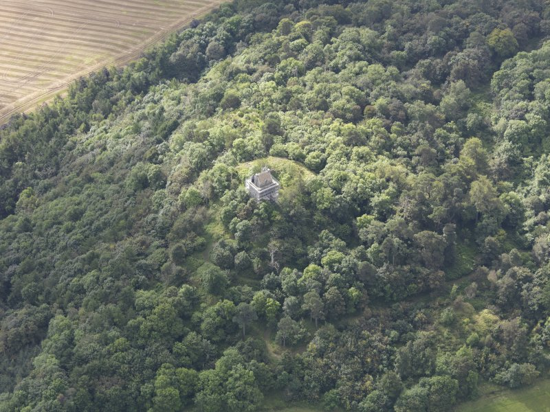 Oblique aerial view of Fatlips Castle, taken from the N.