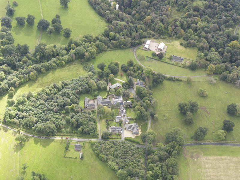 Oblique aerial view of Minto House, taken from the NW.