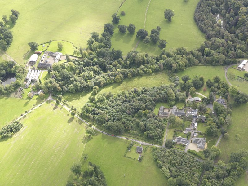 Oblique aerial view of Minto House, taken from the WNW.