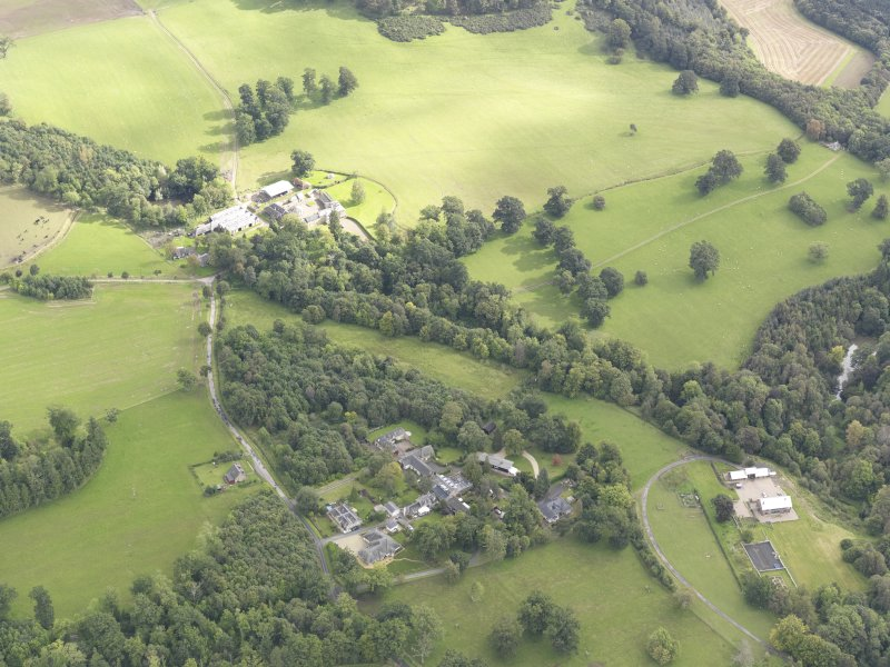 Oblique aerial view of Minto House, taken from the WSW.