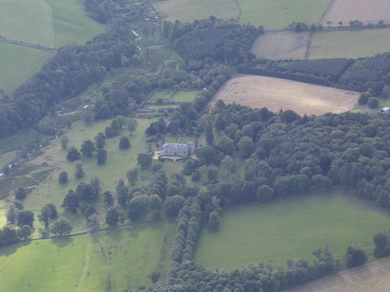 Oblique aerial view of Edgerston House, taken from the NW.