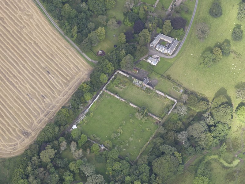 Oblique aerial view of Edgerston House, taken from the SE.