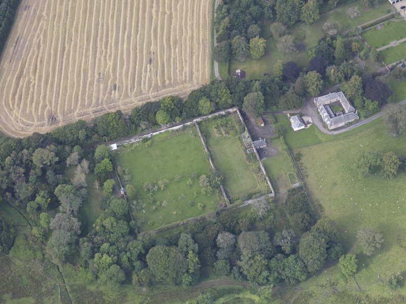 Oblique aerial view of Edgerston House, taken from the E.