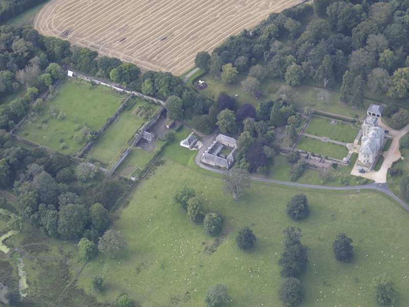 Oblique aerial view of Edgerston House, taken from the NE.