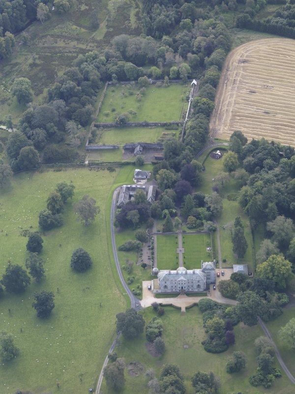 Oblique aerial view of Edgerston House, taken from the N.