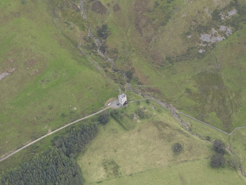 Oblique aerial view of Kirkhope Tower, taken from the SW.