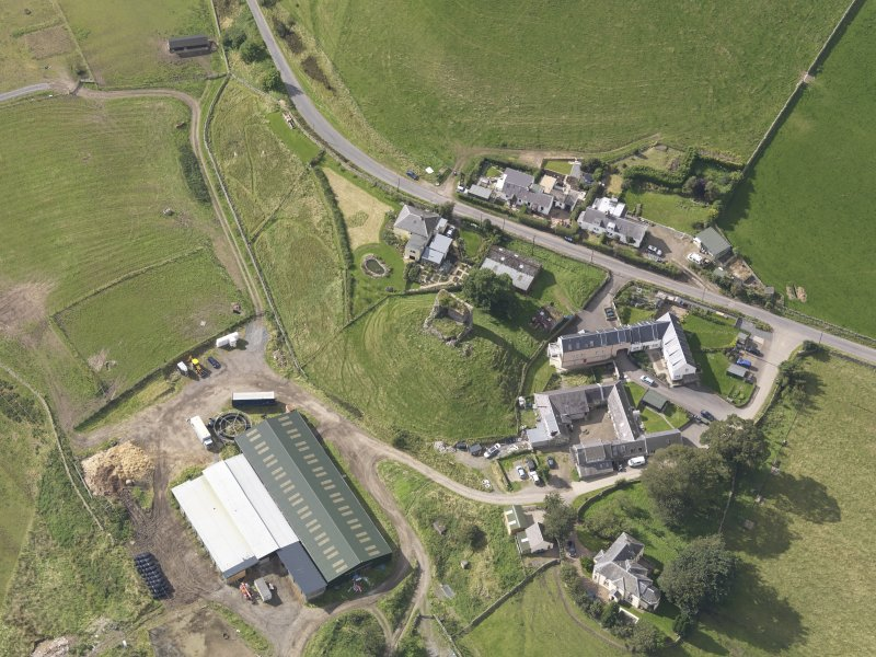 Oblique aerial view of Castlehill Tower, taken from the E.