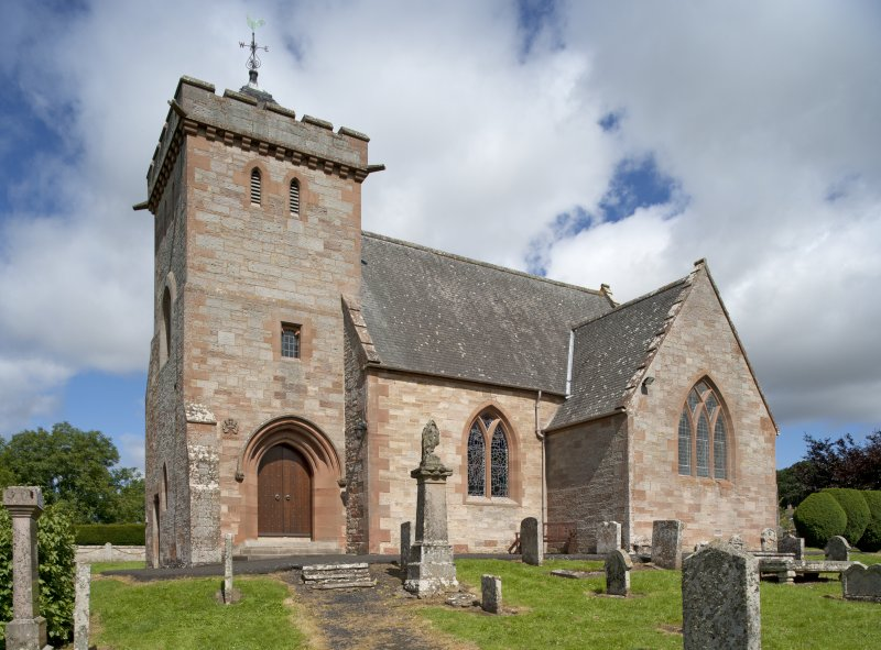 General view of church from South. Composite image using files DP141283, DP141284, DP141285